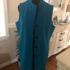 Chicos long wool vest Chicos size 2